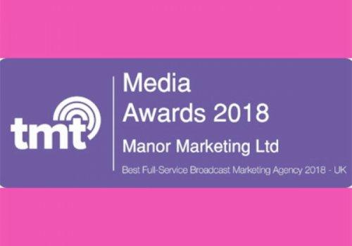 Manor Marketing Wins Best Full-Service Broadcast Marketing Agency 2018 - UK
