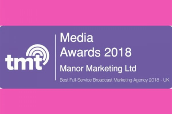 Manor Marketing Wins Best Full-Service Broadcast Marketing Agency 2018 - UK