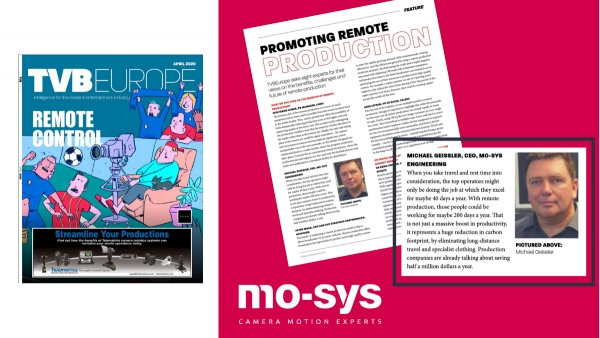 Mo-Sys : TVBEurope - Promoting Remote Production